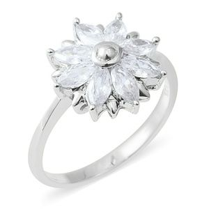 Jewelry - WHITE TOPAZ STERLING SILVER RING